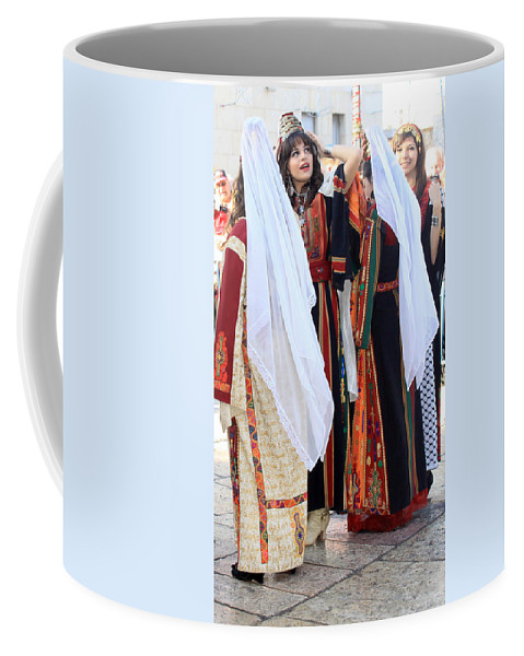 Palestine Coffee Mug featuring the photograph Two By Two by Munir Alawi