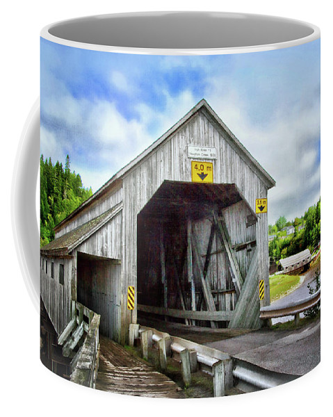 Two Covered Bridges Of St. Martins Coffee Mug featuring the photograph Two Covered Bridges Of St. Martins by Carolyn Derstine