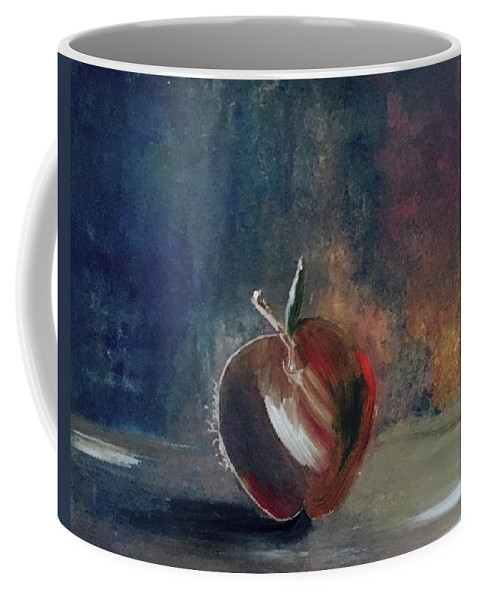 Apple Coffee Mug featuring the painting Two Dimensional Apple by Lisa Kaiser