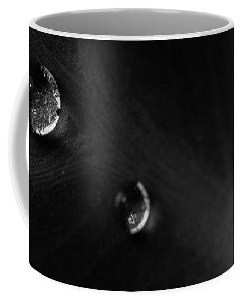 Abstract Coffee Mug featuring the photograph Two Drops by Bob Orsillo