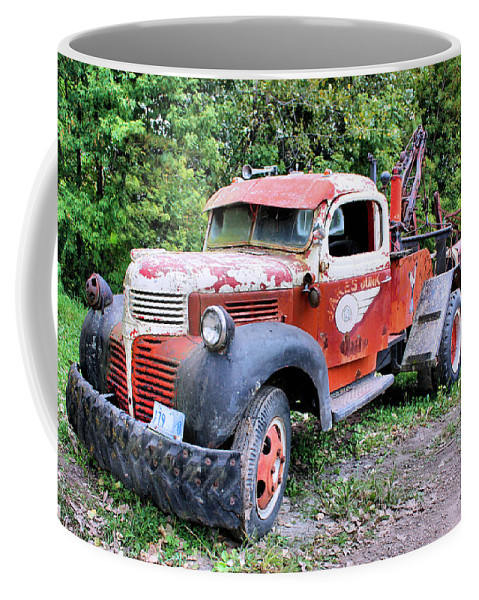 Old Truck Coffee Mug featuring the photograph Two For One by Kristin Elmquist