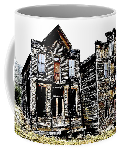 Ghost Town Coffee Mug featuring the photograph Two Ghosts by Nelson Strong