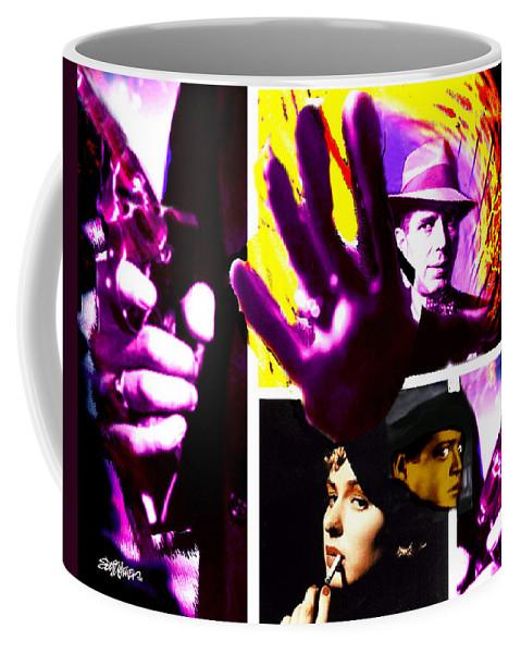 Humphrey Bogart Coffee Mug featuring the digital art Two Guys Two Guns And A Dame by Seth Weaver