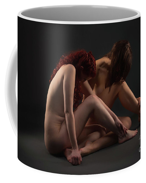 Bodyscape Body Scape Coffee Mug featuring the photograph Christiana And Ciara - 3 by Robert McAlpine