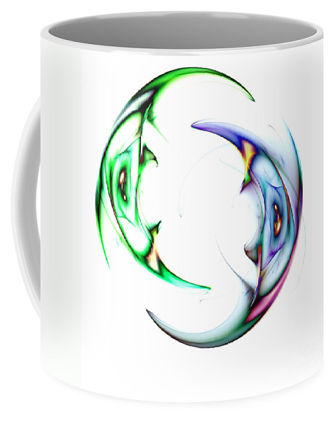Abstract Modern Coffee Mug featuring the digital art Two Of 1 by Steve K