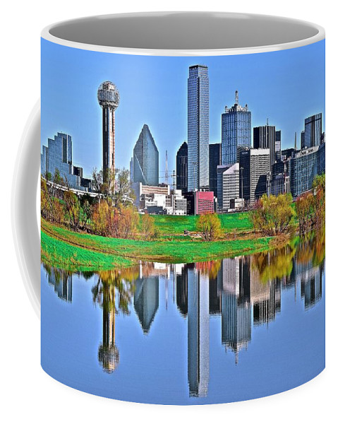 Dallas Coffee Mug featuring the photograph Two Of Dallas by Frozen in Time Fine Art Photography