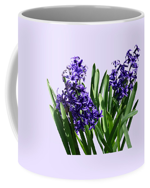 Hyacinth Coffee Mug featuring the photograph Two Purple Hyacinths by Susan Savad