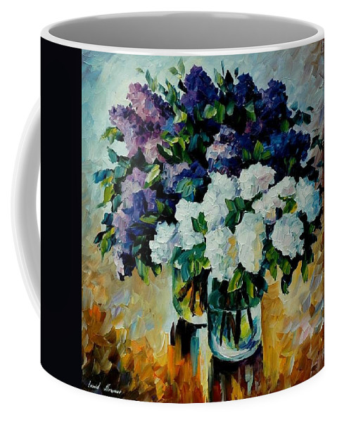 Painting Coffee Mug featuring the painting Two Spring Colors by Leonid Afremov