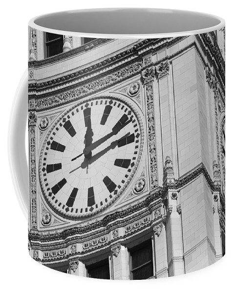 Clock Coffee Mug featuring the photograph Two Timing by Lauri Novak