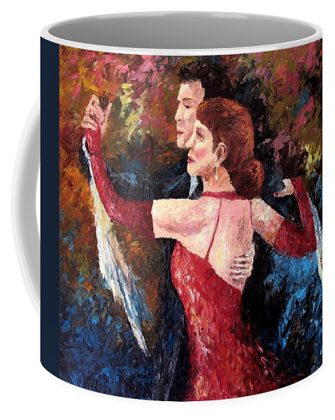 Tango Coffee Mug featuring the painting Two To Tango by David G Paul