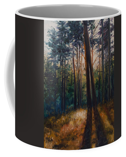 Trees Coffee Mug featuring the painting Two Trees by Rick Nederlof