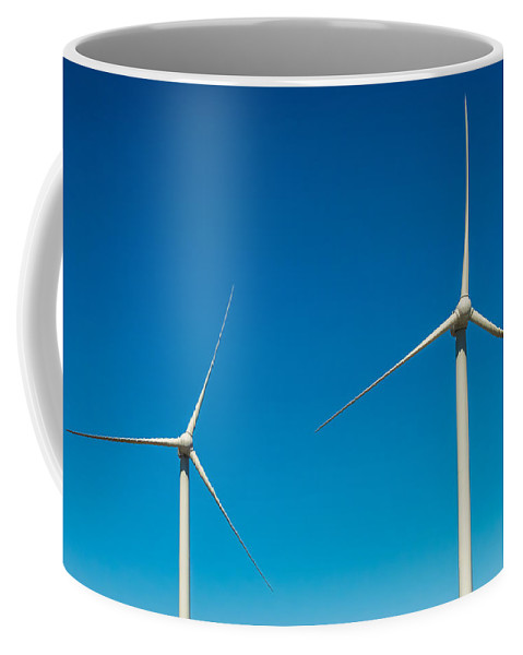 R3d Photography Coffee Mug featuring the photograph Two Wind Turbines by Ray Sheley