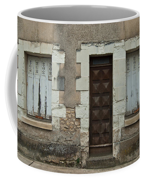 Windows Coffee Mug featuring the photograph Two Windows And A Door by Jani Freimann