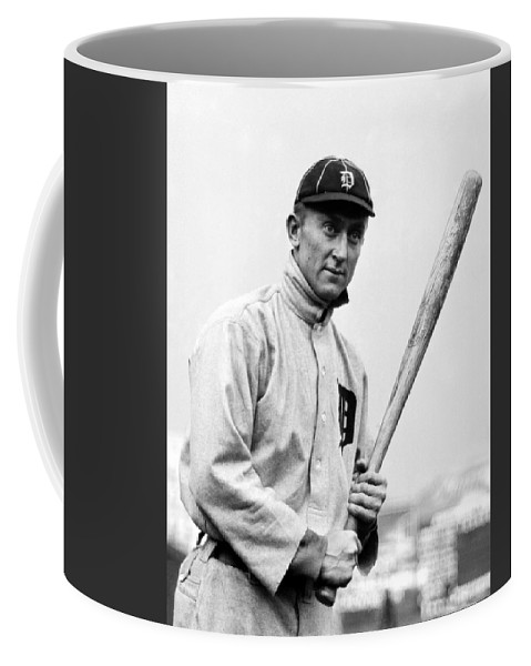 Ty Cobb Coffee Mug featuring the photograph Ty Cobb - 1910 by War Is Hell Store