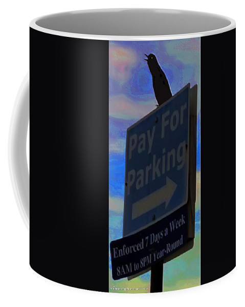 Bird Coffee Mug featuring the digital art Tybee Island Enforcer by Vincent Green