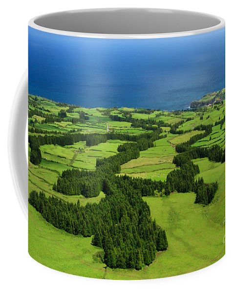 Landscape Coffee Mug featuring the photograph Typical Azores islands landscape by Gaspar Avila
