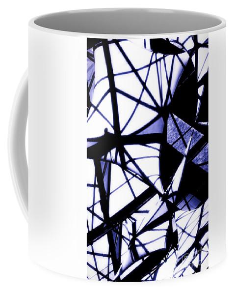 Industrial Coffee Mug featuring the photograph U Of W Hospital Atrium Flags by Becky Kurth