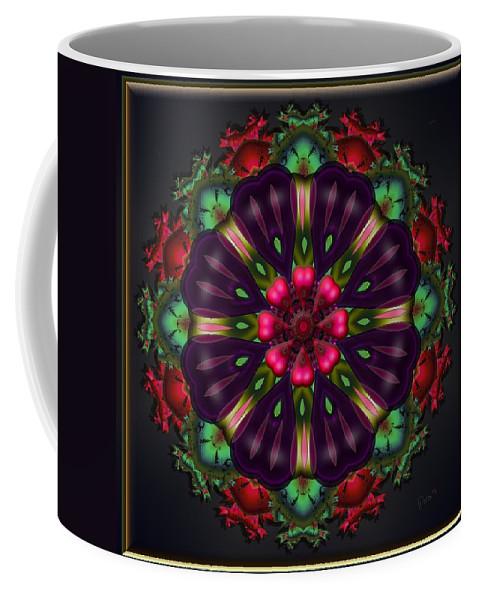 Fractal Coffee Mug featuring the digital art u028 Wholehearted Hibiscus by Drasko Regul