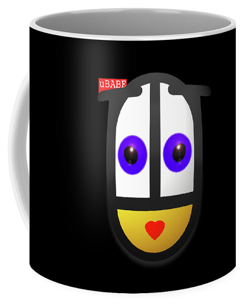Ubabe Coffee Mug featuring the painting uBABE In The Night by Charles Stuart