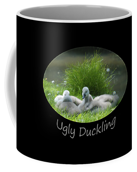 Swan Coffee Mug featuring the photograph Ugly Duckling by Richard Gibb