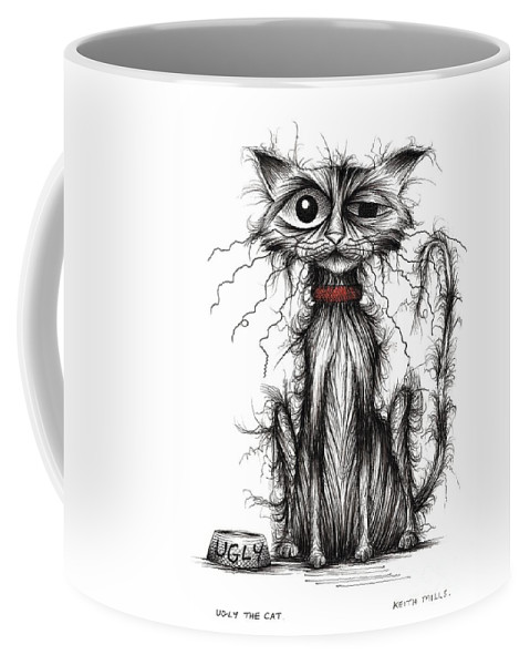 Ugly The Cat Coffee Mug For Sale By Keith Mills