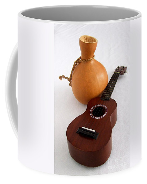 Mary Deal Coffee Mug featuring the photograph Ukulele And Ipu by Mary Deal