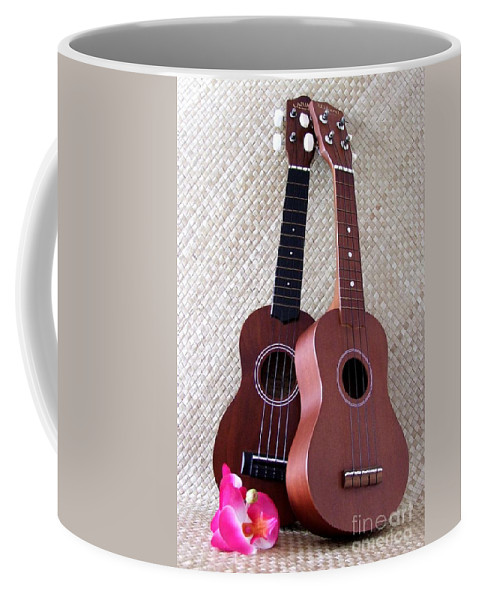 Mary Deal Coffee Mug featuring the photograph Ukulele Duet by Mary Deal