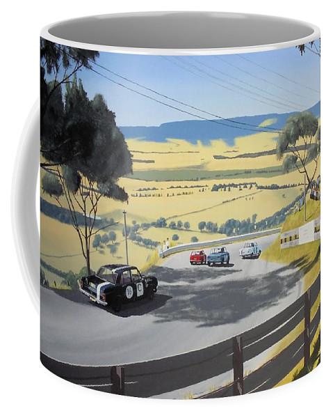 Motorsport Coffee Mug featuring the painting Ultimate Road Test by Kieran Roberts