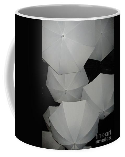 Umbrella Coffee Mug featuring the photograph Umbrellas 1 by Randall Weidner