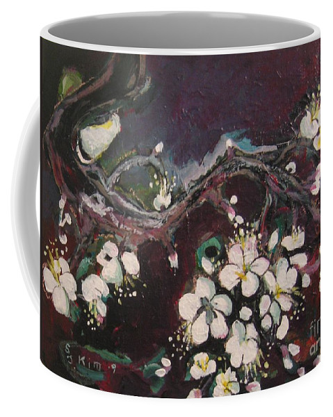 Ume Blossoms Paintings Coffee Mug featuring the painting Ume Blossoms by Seon-Jeong Kim