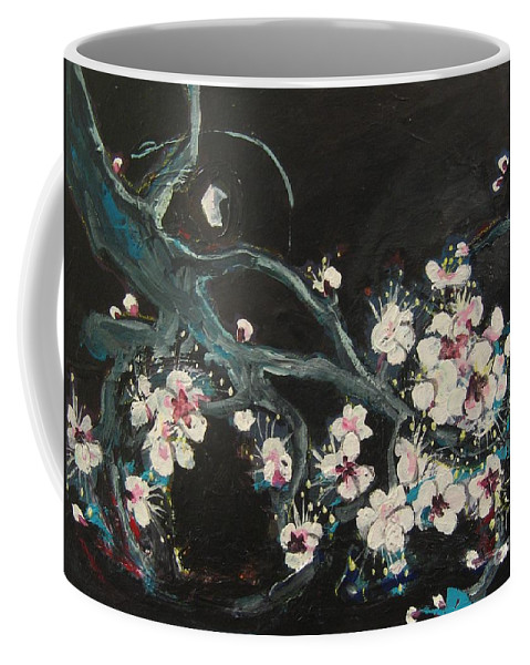 Ume Blossoms Paintings Coffee Mug featuring the painting Ume Blossoms2 by Seon-Jeong Kim