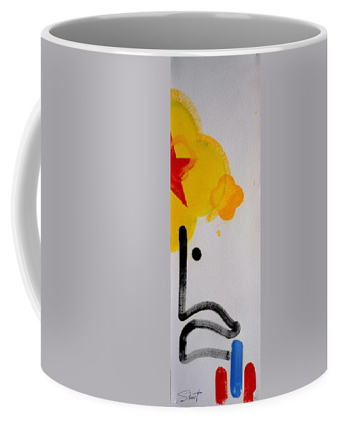 Drawing Coffee Mug featuring the painting UN by Charles Stuart