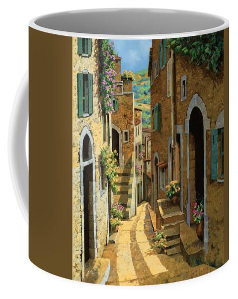 Village Coffee Mug featuring the painting Un Passaggio Tra Le Case by Guido Borelli