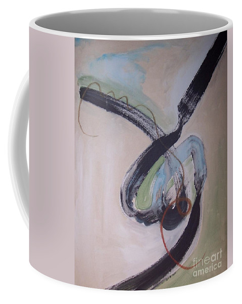 Abstract Paintings Coffee Mug featuring the painting Unaccustomed Thought-abstract Art by Seon-Jeong Kim