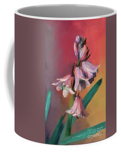 Bluebell Coffee Mug featuring the digital art Unbluebells by Lois Bryan
