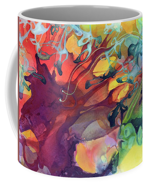 Abstract Coffee Mug featuring the painting Uncontrolled by Darcy Lee Saxton