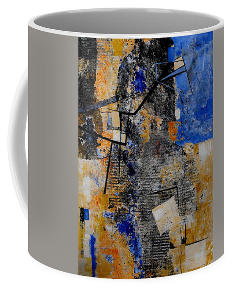Abstract Coffee Mug featuring the painting Under Construction by Ruth Palmer