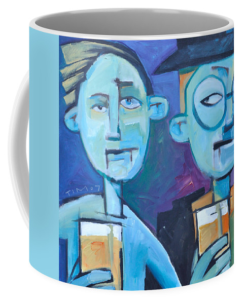 Men Coffee Mug featuring the painting Under Scrutiny by Tim Nyberg