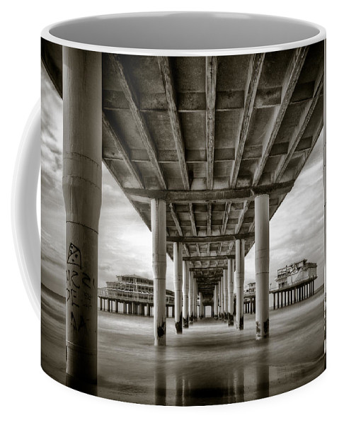 Pier Coffee Mug featuring the photograph Under The Boardwalk by Dave Bowman