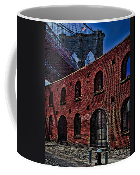 Warehouse Coffee Mug featuring the photograph Under The Bridge by Chris Lord