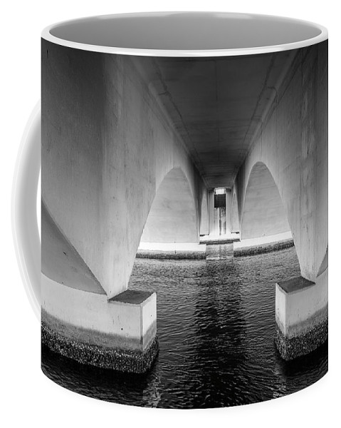 Bridge Coffee Mug featuring the photograph Under The Bridge by Joel Cohen