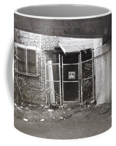 Black And White Photograph Coffee Mug featuring the photograph Under The Bridge by Thomas Valentine
