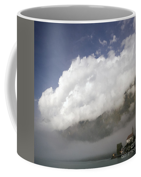 Brienz Coffee Mug featuring the photograph Under The Cloud by Angel Ciesniarska