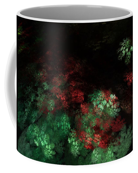 Abstract Digital Painting Coffee Mug featuring the digital art Under The Forest Canopy by David Lane