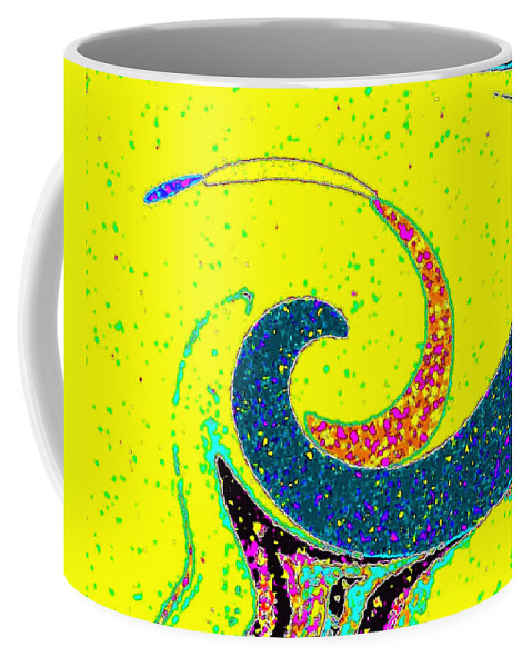 Abstract Coffee Mug featuring the digital art Under The Microscope by Will Borden