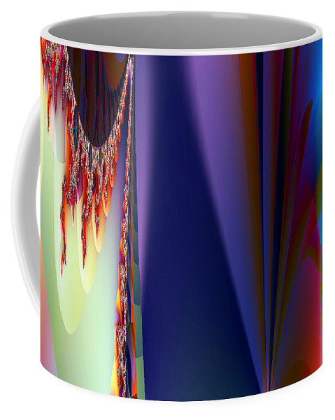 Clay Coffee Mug featuring the digital art Under The Rainbow by Clayton Bruster