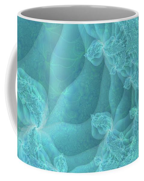 Fractal Coffee Mug featuring the digital art Under The Sea by Debra Martelli