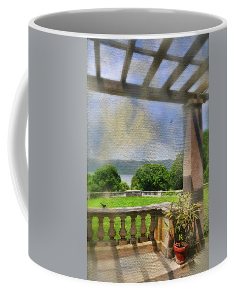 Landscape Coffee Mug featuring the photograph Under The Trellis by Diana Angstadt