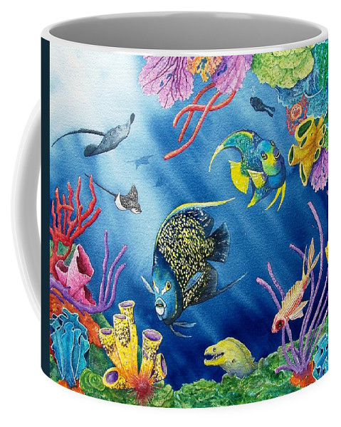 Undersea Coffee Mug featuring the painting Undersea Garden by Gale Cochran-Smith