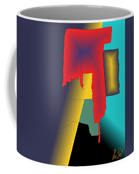 Red Coffee Mug featuring the digital art Unexpected- Red by Helmut Rottler